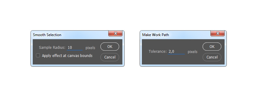 Smoothing selection and making work path