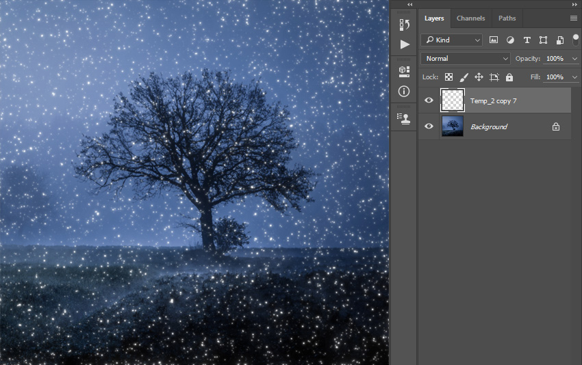 How to Add Lights to a Tree With a Photoshop Action