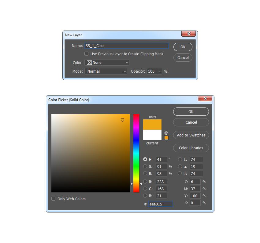创建新的纯色填充图层