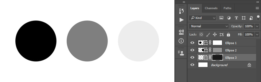 Filling layer masks with different colors