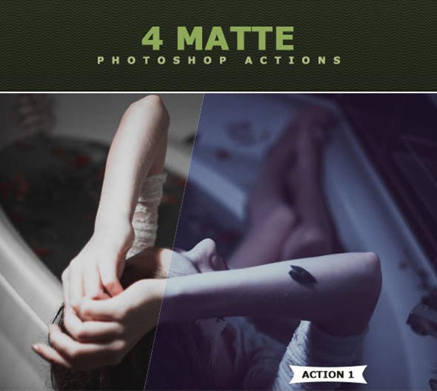 10 Matte Photoshop Action