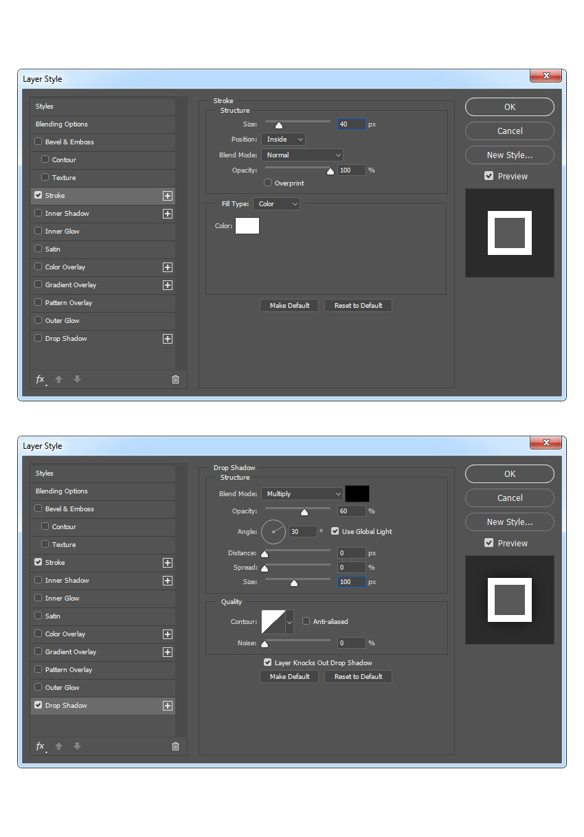adjusting blending options