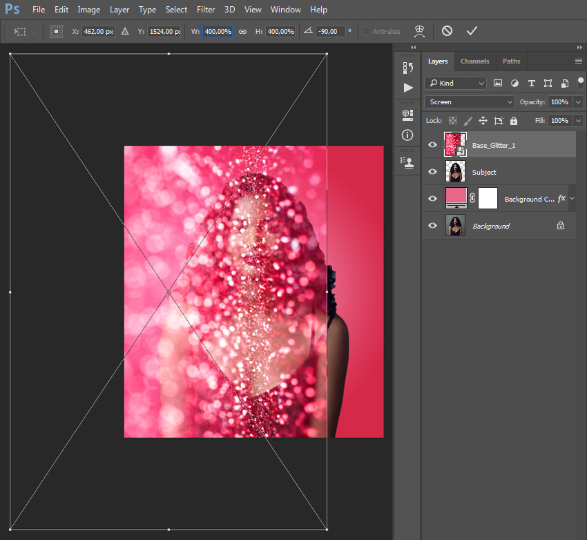 how to add glitter in photoshop
