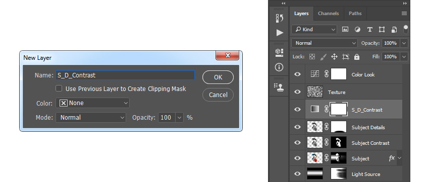 creating new gradient map adjustment layer