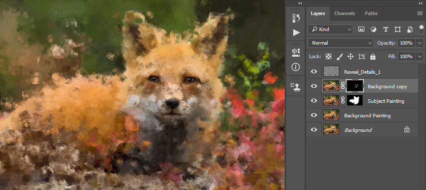brushing into layer mask