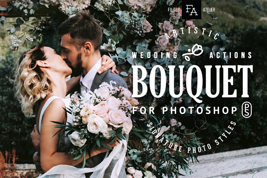 bouquet wedding actions for photoshop