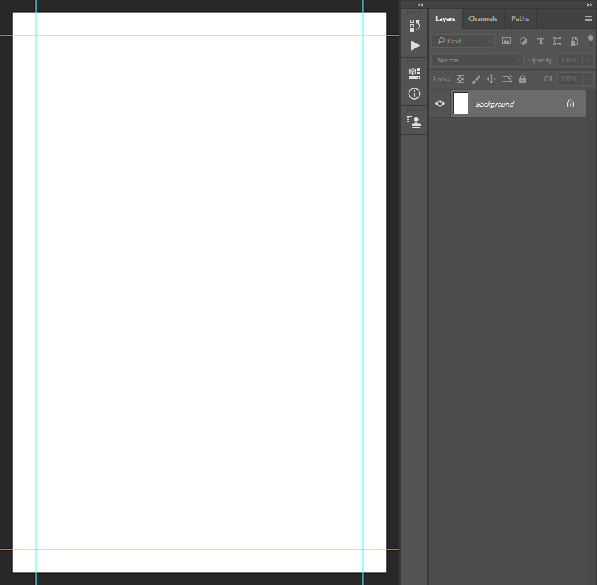 creating guidelines for photoshop flyer templates