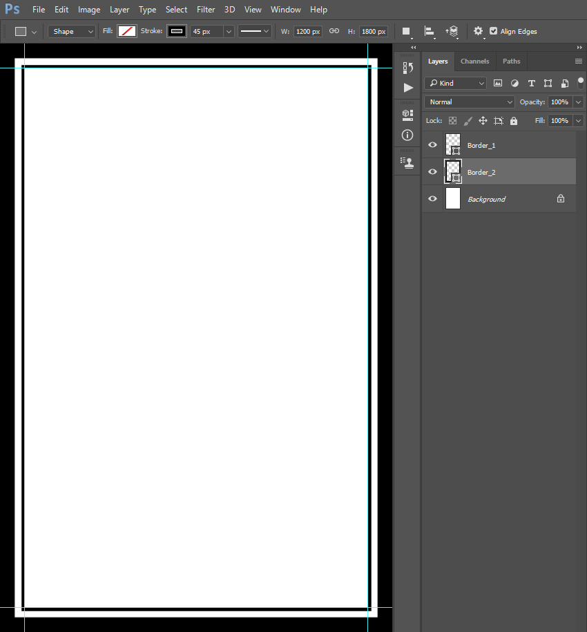 creating flyer template border
