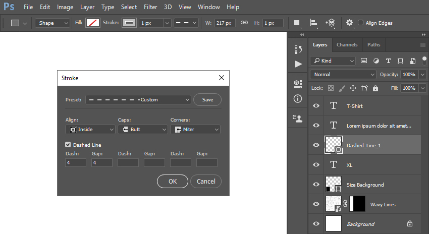 creating new rectangle shape layer