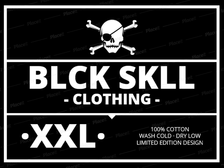t-shirt label design for punk clothing brands