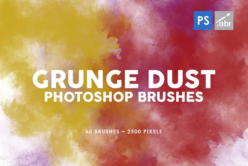 60 grunge photoshop brushes