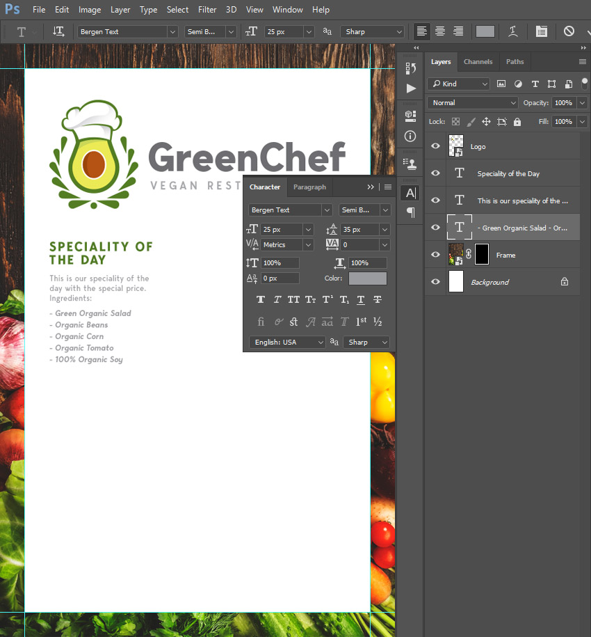 creating new text layer