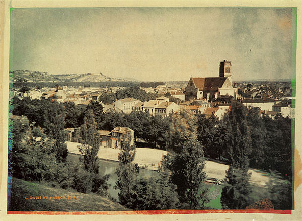 One of the first color photographs by Louis Ducos du Hauron 1877