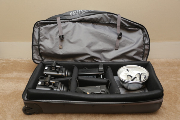 Eddie Bauer DIY gear bag filled with kit
