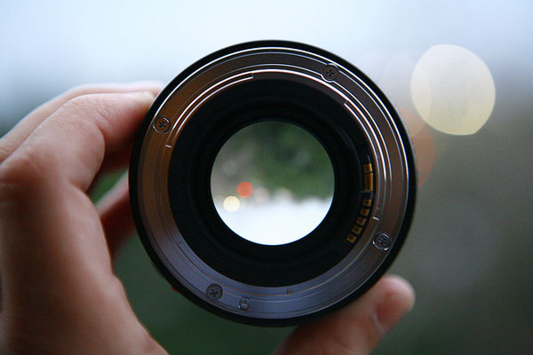 An open aperture in a lens