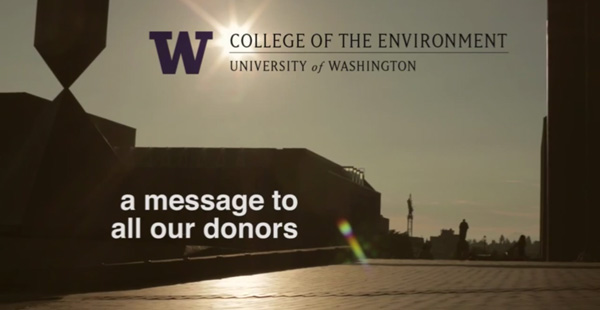 University of Washington Message to Donors Film Still