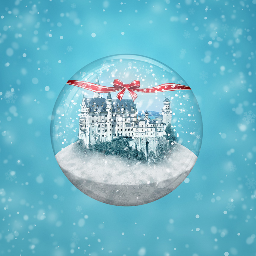 How to create a winter snow globe in adobe photoshop final product image gumiabroncs
