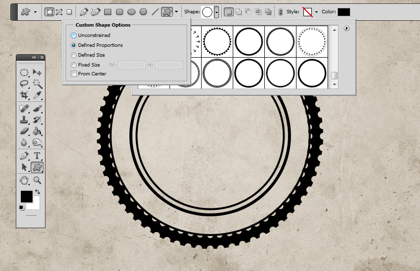 Circle Photoshop Custom Shapes