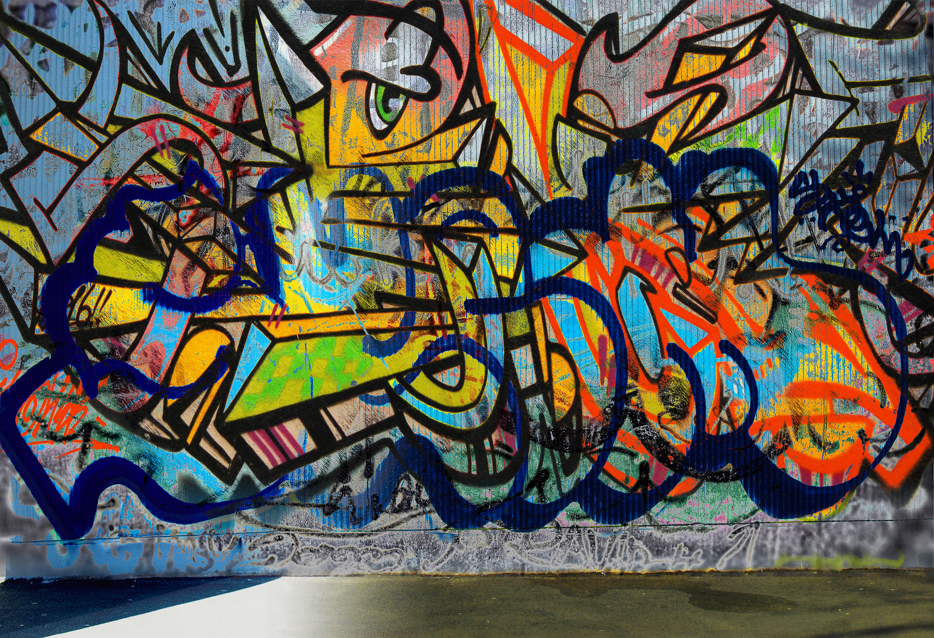 Grunge brush · graffiti wall