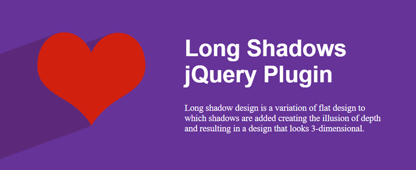 An example header using the long shadows effect