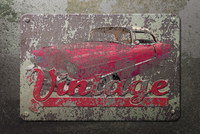 How to Create a Vintage Rusted Metal Sign in Adobe Photoshop