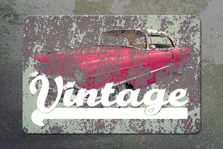 Vintage Font Type in Photoshop