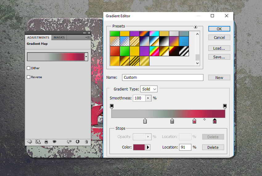 Edit Gradient Colors in Photoshop