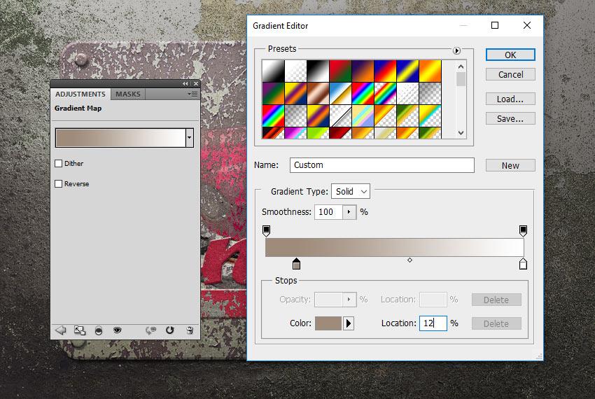 Gradient Map Adjustment Layer