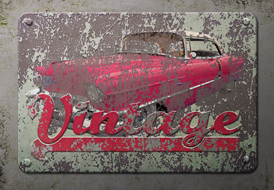 Old vintage metal sign thumb