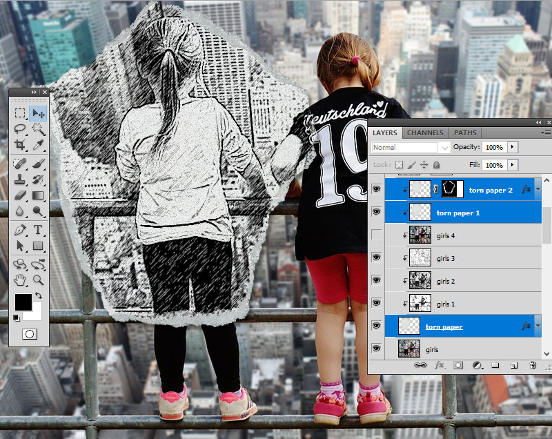 How to Create a Sketch vs. Camera Effect in Adobe Photoshop