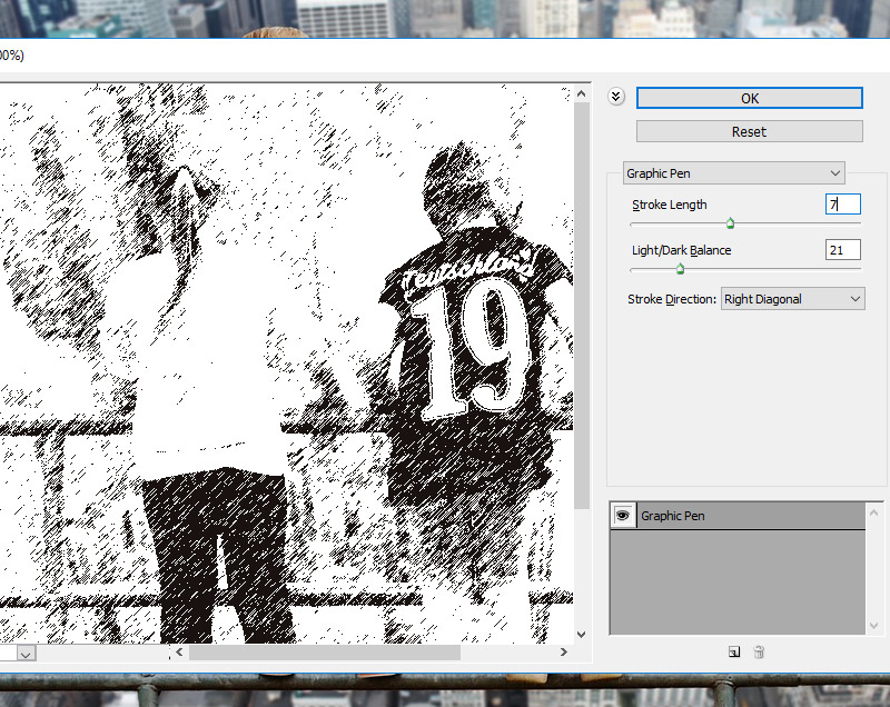 Graphic Pen Photoshop Filter