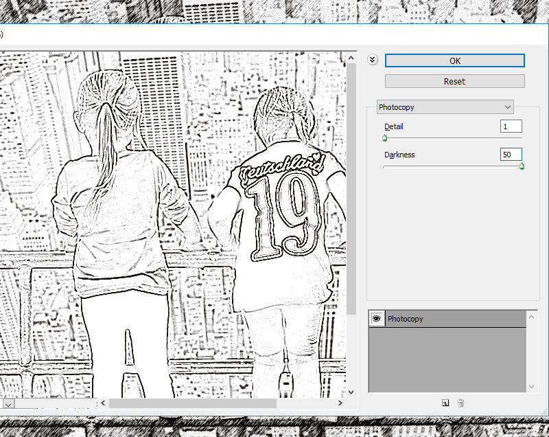 Photocopy Photoshop Filter
