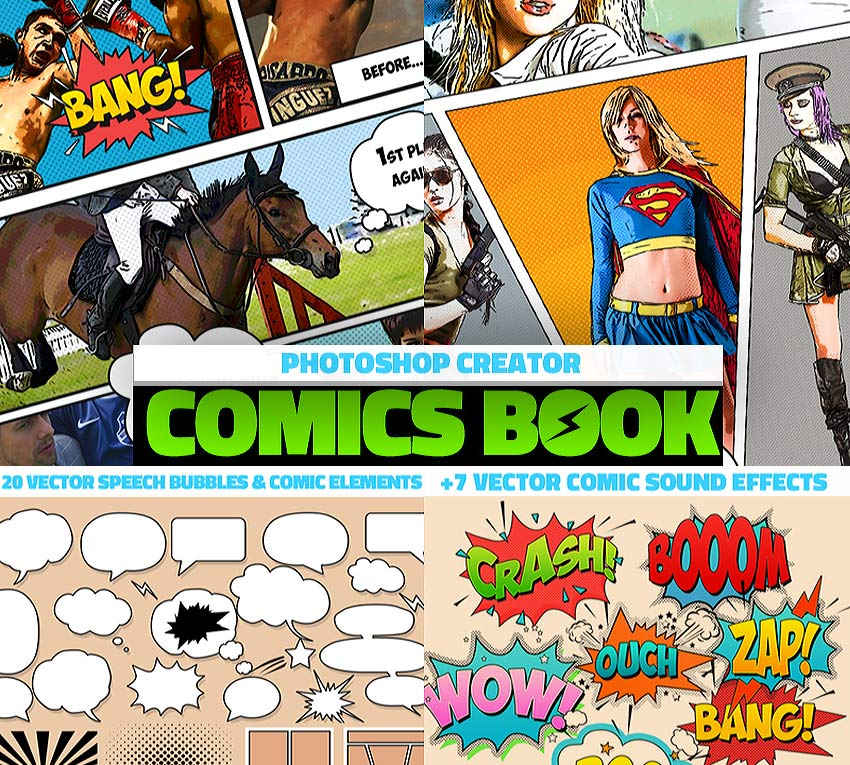 Comic Book Photoshop Action Download