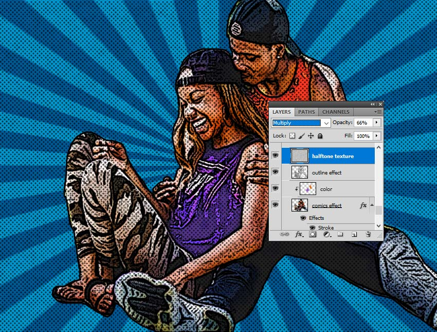 Comics Halftone in Photoshop