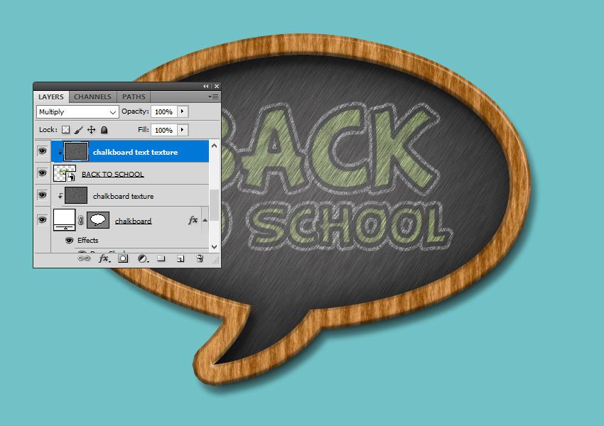 Chalk Texture Text Effect