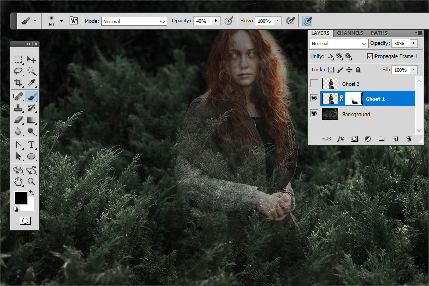 Hide Image with Layer Mask