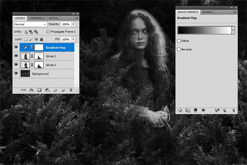 Add a Gradient Map Adjustment Layer in Photoshop