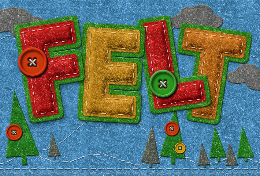 Create a Felt Text Effect in Photoshop
