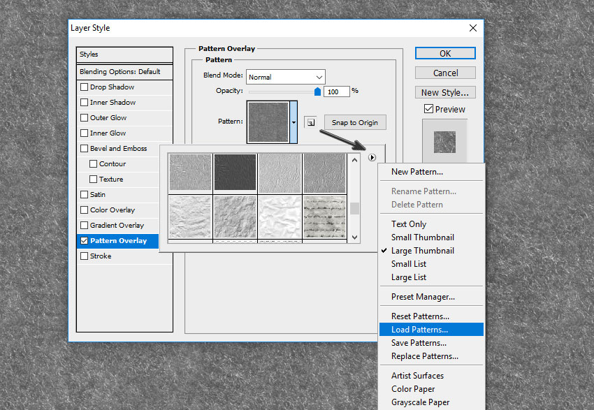 How to Load Patterns in Photoshop