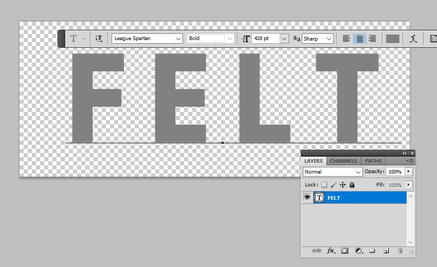 Add Text Layer in Photoshop