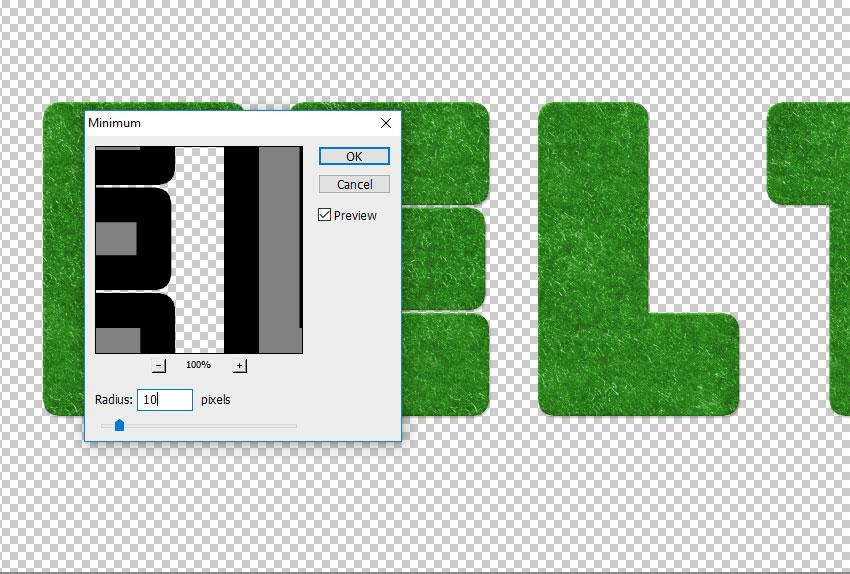 Minimum Filter in Photoshop