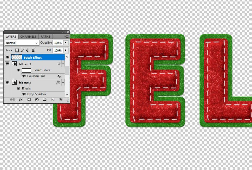 Stitch Effect in Photoshop