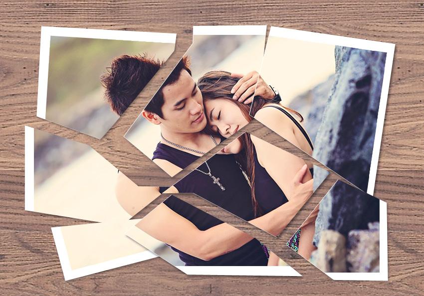 Cut Up Photo Photoshop Effect