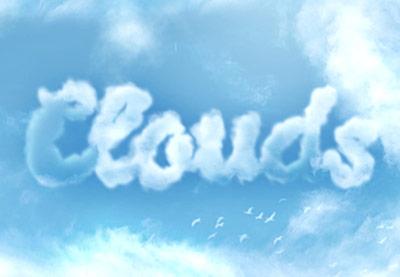 Cloud effect photoshop 1