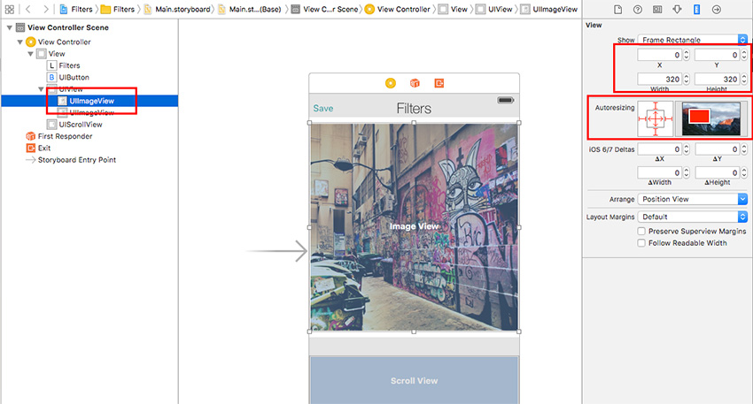 Set imageViews size and margins