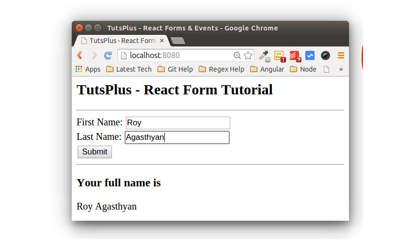 React Form App Form Fill