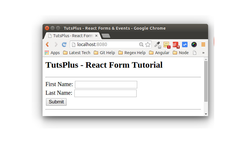 Understanding Forms and Events inReact