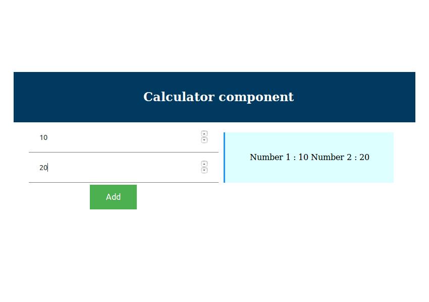 Calculator Component