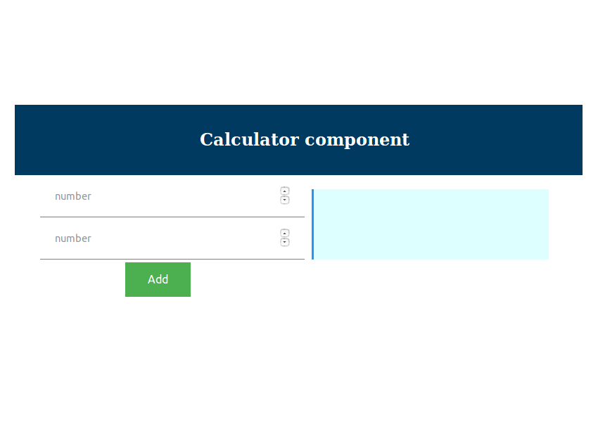 Calculator Component Interface