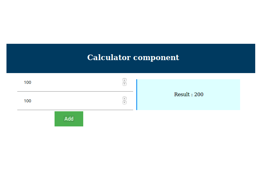 Calculator Component Result